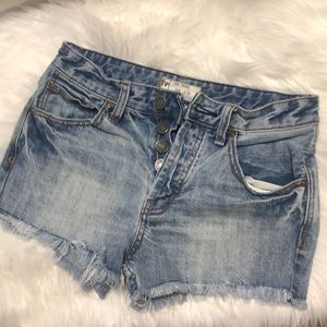 Free People boyish Cody denim cutoff shorts